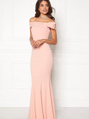 Goddiva Bardot Fishtail Maxi Dress