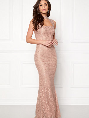 Goddiva High Neck Cut Out Lace