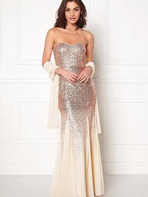 Goddiva Bandeau Sequin Maxi Dress
