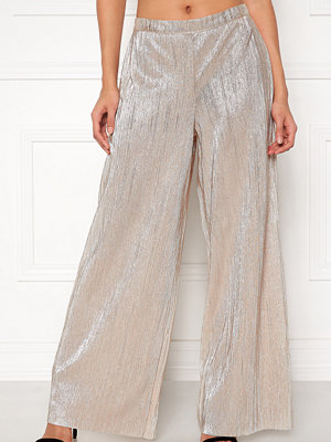 Only omönstrade byxor Melissa Metallic Wide Leg