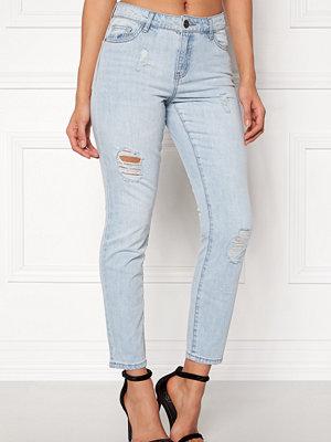 Jacqueline de Yong ljusgrå byxor Silver Boyfriend Jeans