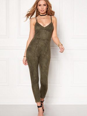 Bubbleroom Blair suede jumpsuit