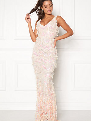 Goddiva Sequin Flapper Maxi Dress