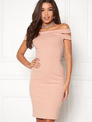 Goddiva Double Bardot Midi Dress