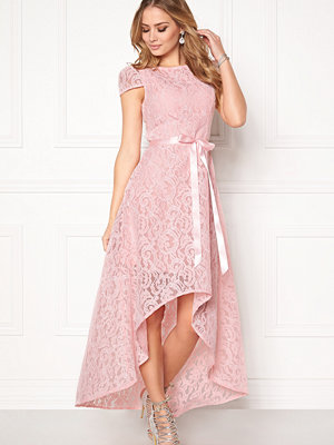 Goddiva Asymmetric Lace Dress