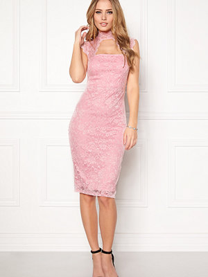 Goddiva High Neck Cut Out Midi