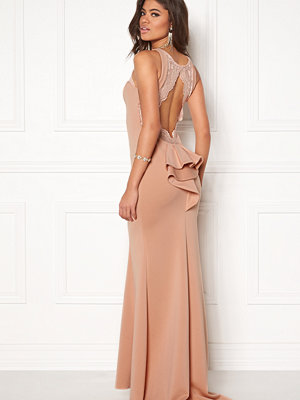 Goddiva Open Back Lace Maxi