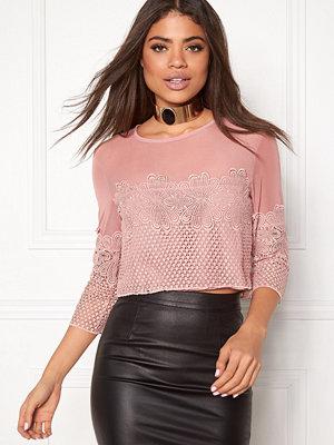 New Look Go LS Mesh Lace Crop