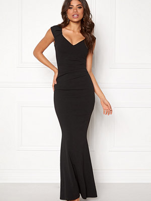 Goddiva Pleated Maxi Dress