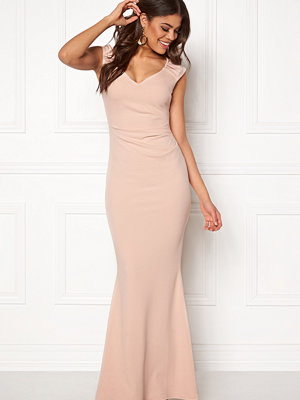 Goddiva Pleated Maxi Dress