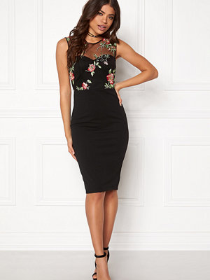 Goddiva Floral Embroidered Midi