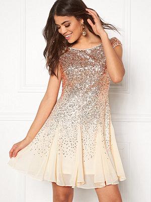 Goddiva Sequin And Chiffon Dress