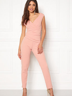 Jumpsuits & playsuits - Goddiva Bardot Pleated Jumpsuit