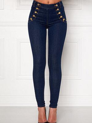 77thFLEA marinblå byxor Adina highwaist jeans