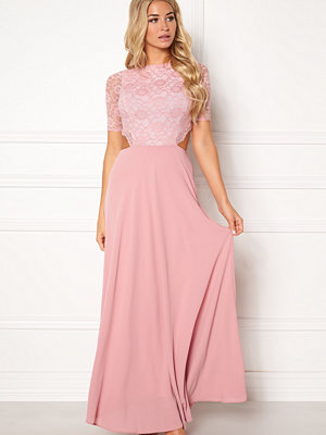 John Zack Open Back Lace Maxi Dress