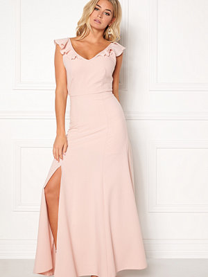 John Zack Tie Back Frill Maxi Dress