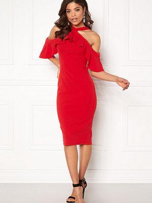 Girl In Mind Halterneck Frill Dress