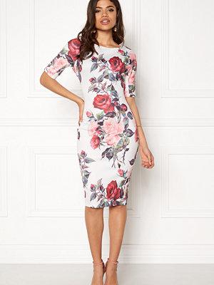 Ax Paris Printed Short Sleeve Midi Dress