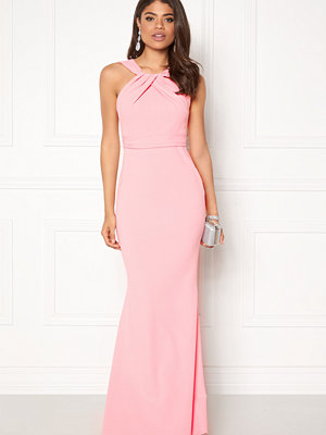 Goddiva Pleated Neckline Maxi
