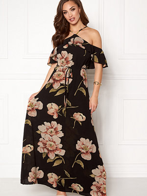Ax Paris Floral Cold Shoulder Maxi