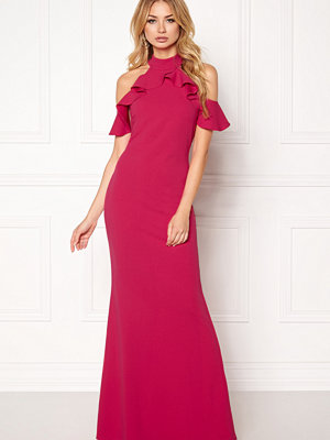 Goddiva Cut Out Maxi Dress Frill