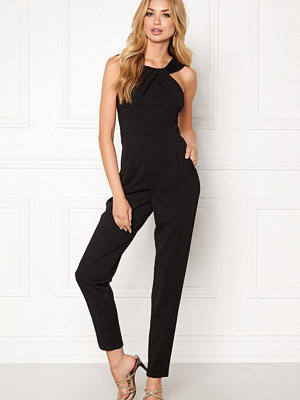 Goddiva Pleat Neckline Jumpsuit
