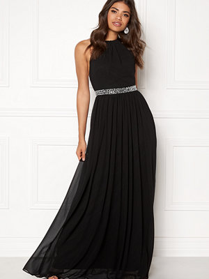 Goddiva Halter Neck Chiffon Dress