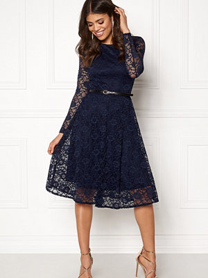 Goddiva Lace Skater Midi Dress
