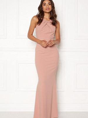 Goddiva Pleated Neckline Maxi Dress