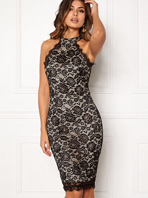 Ax Paris High Neck Lace Midi Dress