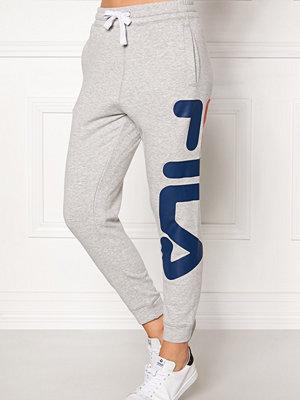 Fila ljusgrå byxor med tryck Basic Classic Pant