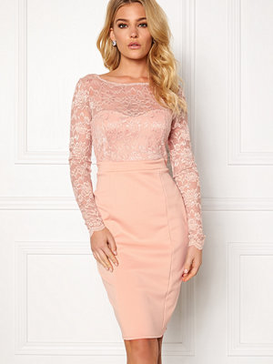 Goddiva Bardot Midi Dress Bow