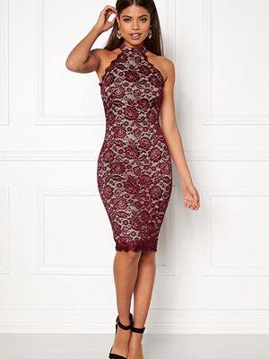 Ax Paris High Neck Lace Midi Dress