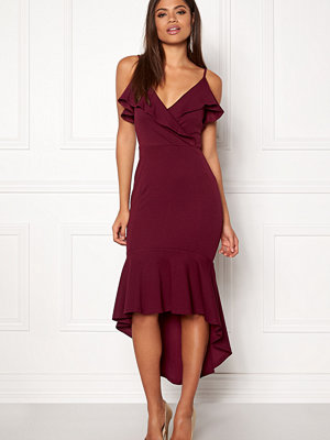 Ax Paris Wrap Fishtail Midi Dress