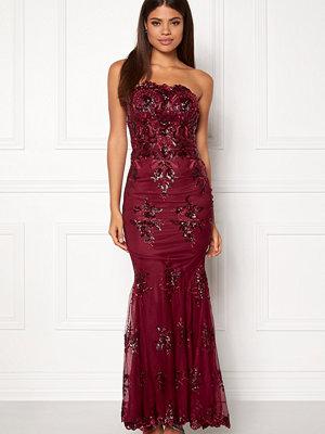 Goddiva Strapless Sequin Dress