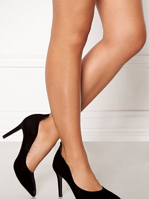 Billi Bi Black Velvet Suede Pumps