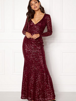 Goddiva Open Back Sequin Maxi Dress