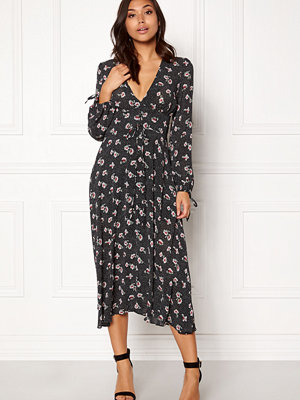 New Look Print Lattice Maxi Dress