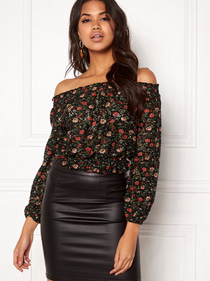 New Look Ballon Printed Lace Top