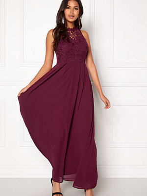 Ax Paris Crochet Top Chiffon Maxi Dress