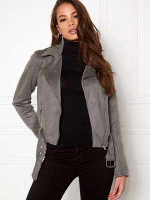New Look Stretch Suedette Biker