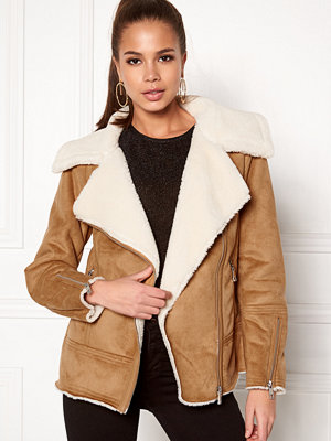 New Look Vally Shearling Biker