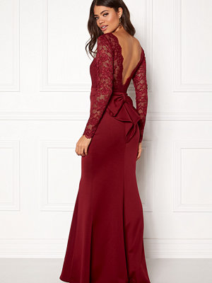 Goddiva Open Back Lace Maxi Dress