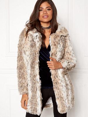 Qed London Leopard Faux Fur Coat
