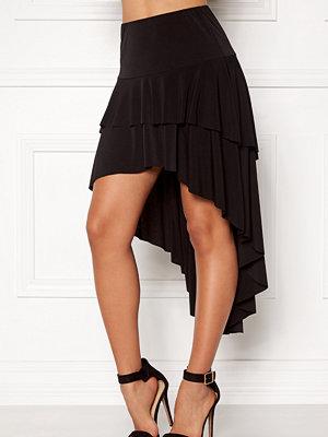 John Zack Ruffle Skirt High Low Hem