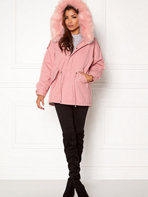 Qed London Relaxed Parka Fur Hood