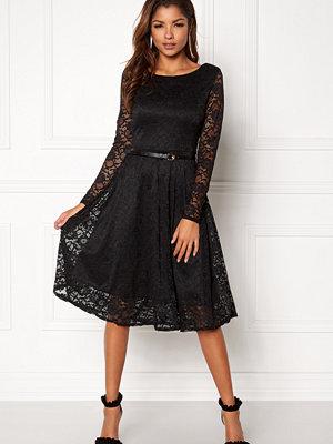 Goddiva Lace Skater Midi Dress