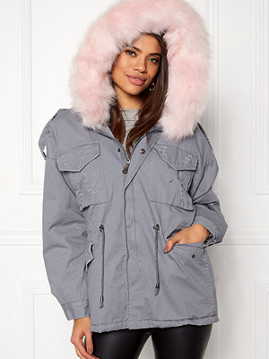 Urban Mist Plush Faux Fur Parka