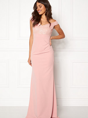 Goddiva Bardot Sequin Maxi Dress