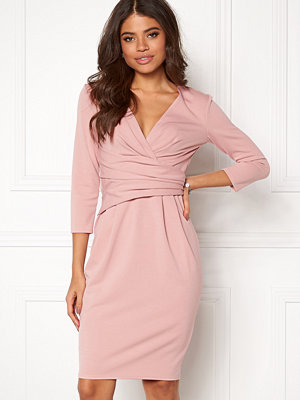 Goddiva Fitted Pleated Midi Dress